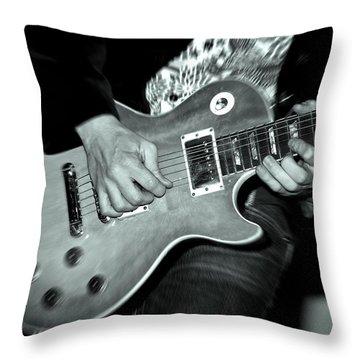 Rock On Throw Pillow by Kamil Swiatek