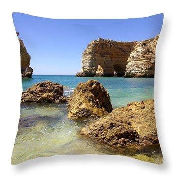 Rocky Coast Throw Pillow by Carlos Caetano