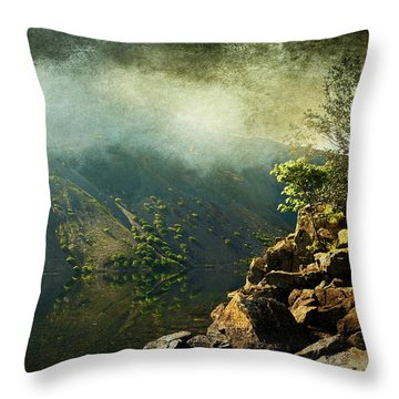 Rocky Hill Throw Pillow by Svetlana Sewell