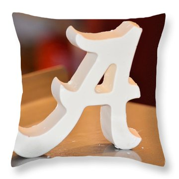 Roll Tide Throw Pillow by Maria Urso