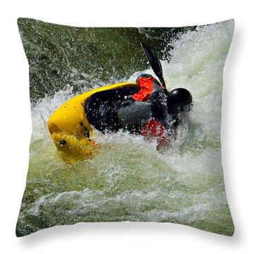 Rolling Down The River  Throw Pillow by Susan Leggett