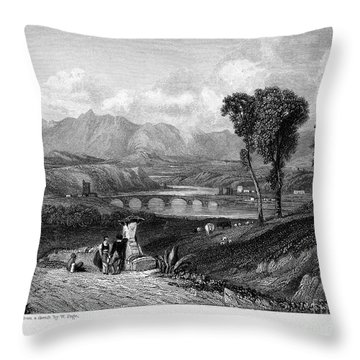 Rome: Milvian Bridge, 1833 Throw Pillow by Granger