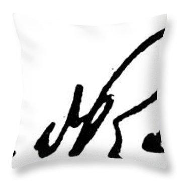 Roosevelt Signature Throw Pillow by Granger