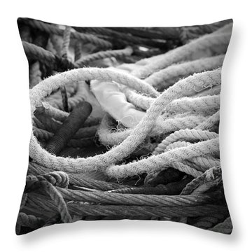 Ropes Throw Pillow by Eric Gendron