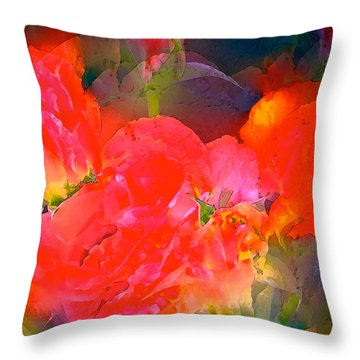 Rose 144 Throw Pillow by Pamela Cooper
