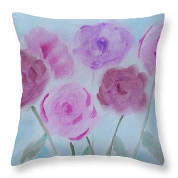 Roses Throw Pillow by Heidi Smith