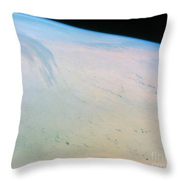 Ross Ice Shelf, Antarctica Throw Pillow by NASA / Science Source