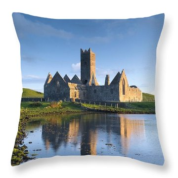 Rosserk Friary, Co Mayo, Ireland 15th Throw Pillow by Gareth McCormack