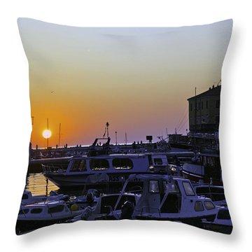 Rovinj Sunset Throw Pillow by Madeline Ellis