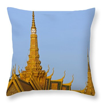 Royal Palace Roof. Throw Pillow by David Freuthal