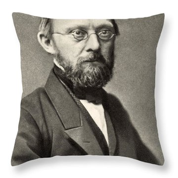 Rudolph Virchow, German Polymath Throw Pillow by Photo Researchers