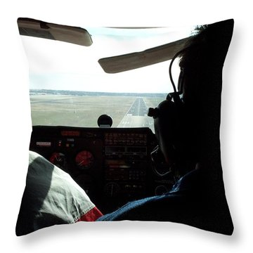 Runway 10 Dallas Area Throw Pillow by Thomas Woolworth