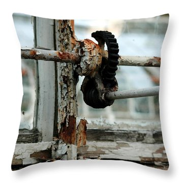Rust Throw Pillow by Maglioli Studios