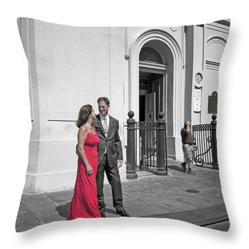 S And D 54 Throw Pillow by Kathleen K Parker
