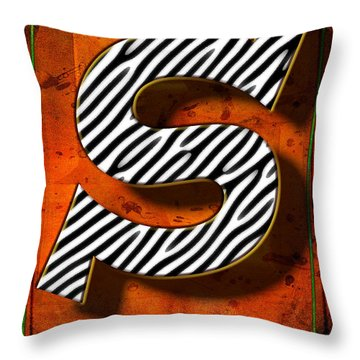 S Throw Pillow by Mauro Celotti