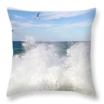 S P L A S H Throw Pillow by Kaye Menner