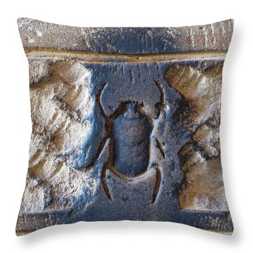 Sacred Scarab. Throw Pillow by JSM Fine Arts John Malone