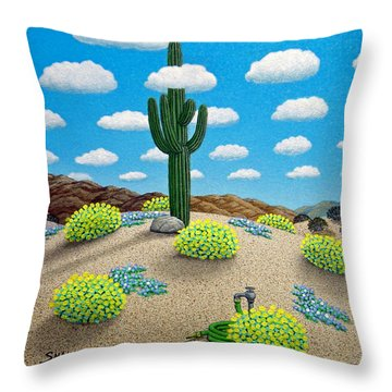 Saguaro Throw Pillow by Snake Jagger