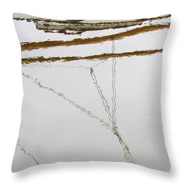 Sailboat Reflect Throw Pillow by Karol Livote
