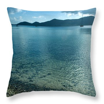 Sailing Away Throw Pillow by Kathy Yates