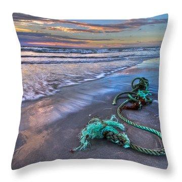 Sailor's Knot Throw Pillow by Debra and Dave Vanderlaan