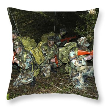 Sailors Take Part In Combat Training Throw Pillow by Stocktrek Images