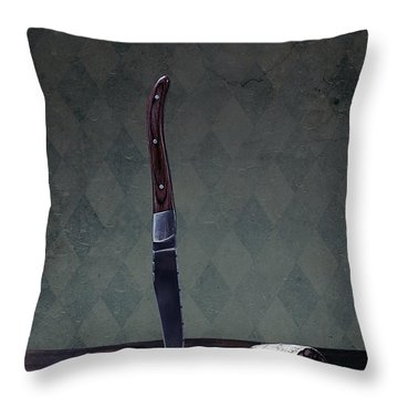 Salami Throw Pillow by Joana Kruse