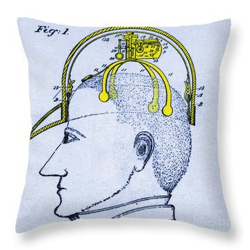 Saluting Device Throw Pillow by Science Source