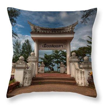 Samila Garden Throw Pillow by Adrian Evans