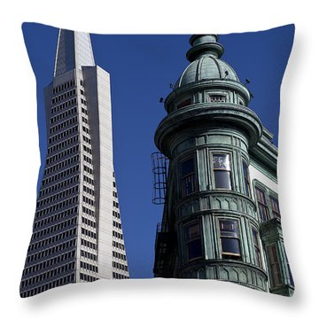 San Francisco Buildings Throw Pillow by Garry Gay