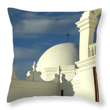 San Xavier Del Bac Mission Arizona Throw Pillow by Bob Christopher