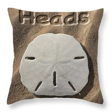 Sand Dollar Heads Throw Pillow by Mike McGlothlen