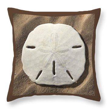 Sand Dollar Throw Pillow by Mike McGlothlen
