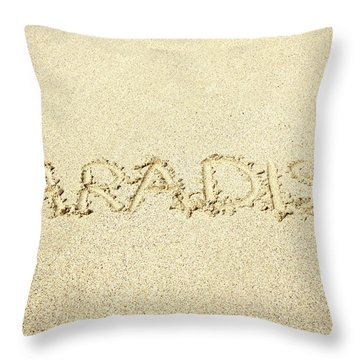 Sandy Paradise Throw Pillow by Kicka Witte
