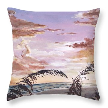 Sanibel Island Sunset Throw Pillow by Jack Skinner