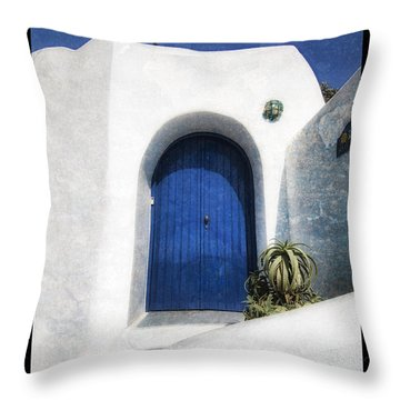 Santorini 1 Throw Pillow by Mauro Celotti