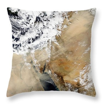 Satellite View Of The Eastern Throw Pillow by Stocktrek Images