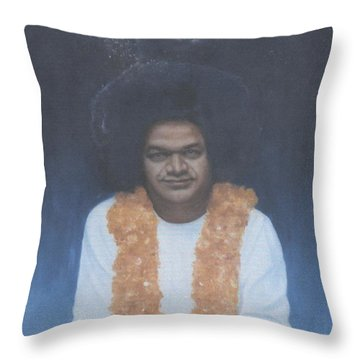 Sathya Sai Baba Divine II Throw Pillow by Anne Provost