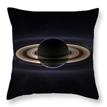 Saturn Throw Pillow by Dale Jackson