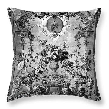 Savonnerie Panel C1800 Throw Pillow by Granger