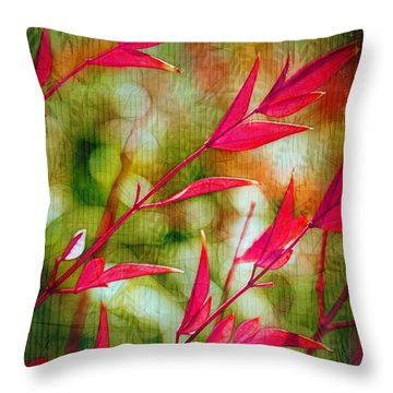 Scarlet Throw Pillow by Judi Bagwell