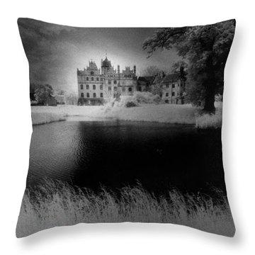 Schloss Basedow Throw Pillow by Simon Marsden