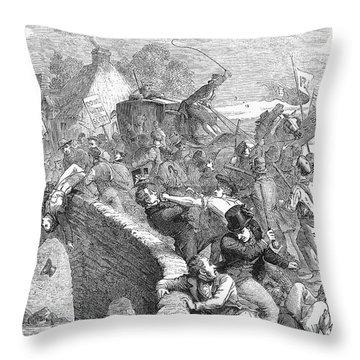 Scotland: Anti-tory Riot Throw Pillow by Granger