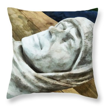 Scott Of The Antarctic Throw Pillow by Steve Taylor