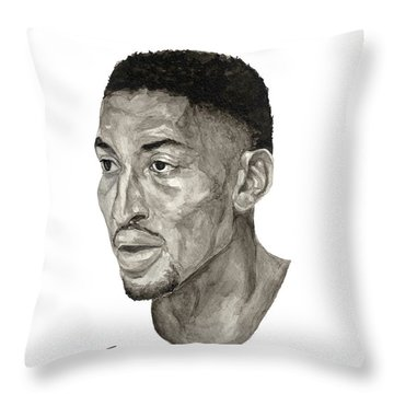 Scottie Pippen Throw Pillow by Tamir Barkan