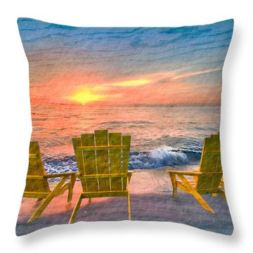 Sea Dreams II Throw Pillow by Debra and Dave Vanderlaan