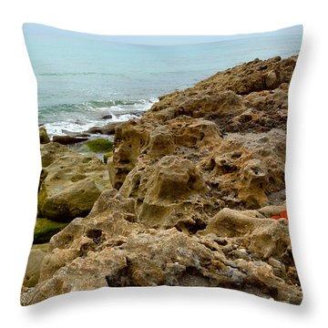 Sea Grape Throw Pillow by Michelle Wiarda