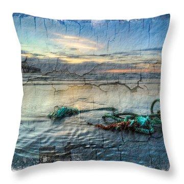 Sea Knot Throw Pillow by Debra and Dave Vanderlaan