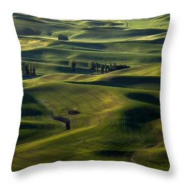 Sea Of Green Throw Pillow by Mike  Dawson
