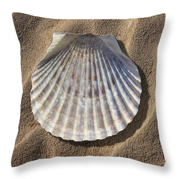 Sea Shell 2 Throw Pillow by Mike McGlothlen
